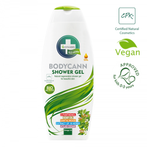 gel corporal de cannabis bio y vegano para piel sensible