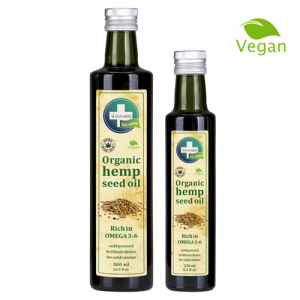 aceite de cañamo bio vegano para alimentacion