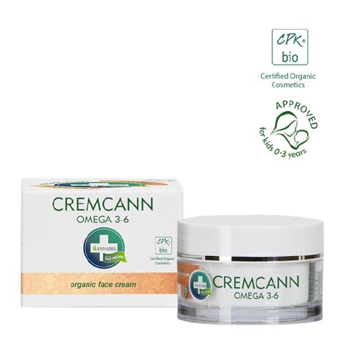 cremcann es una crema facial hidratante de cáñamo rico en Omega 3 y Omega 6