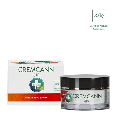 cremcann q10 es una crema hidratante natural con cañamo para el cuidado facial