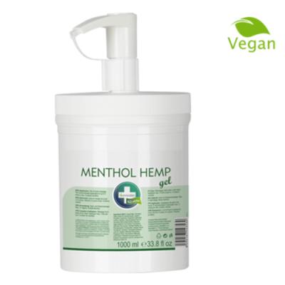MENTHOL HEMP GEL crema de cannabis para alivio y masaje antiinflamatorio efecto frío