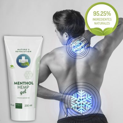 Menthol Hemp Gel crema de cannabis para alivio y masaje efecto frío